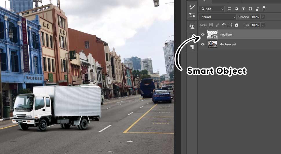 penggunaan smart object di photoshop perspective warp photoshop cc 2020